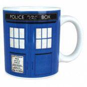 Doctor Who Tardis Kaffe Mugg