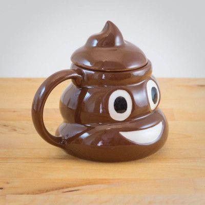 Emoji Poo Mugg med Lock