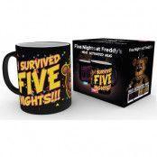 Five Nights at Freddy's - I Survived Heat Change Mug