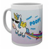Mugg Enhörning Rainbow Poop