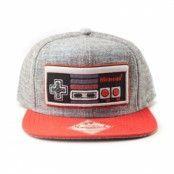 Grey Nintendo Control Snapback Cap, Adjustable Snapback Cap