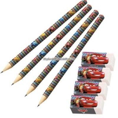 Disney bilar neon - pennor & suddgummin - 4 st