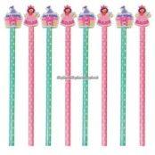 Prinsessparty pennor och suddgummin - 6 st