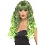Siren peruk grön och svart