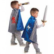 2-i-1 Vändbar Riddar / Piratkappa till Barn