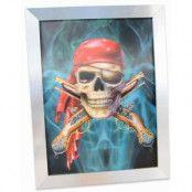 3D Pirat Väggbild 40x30 cm