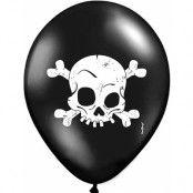 6 stk 30 cm Dead Skull Latexballonger