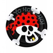 8 st Papptallrikar 17 cm - AHOY! Piratfest