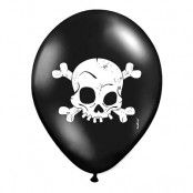 Ballonger Döskalle Svart Pastell - 6-pack