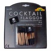Cocktailflaggor Pirat - 50-pack