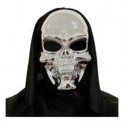 Döskalle Silver 3D-Mask - One size