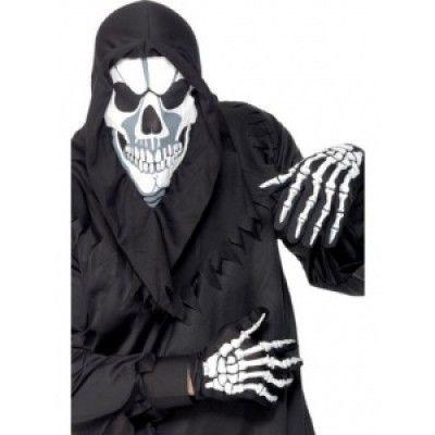 Döskallemask och handskar