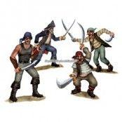 Duellerande Pirat och Bandit rekvisita - 3 st