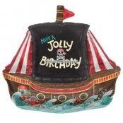 Jolly piratskepp folieballong - 91 cm