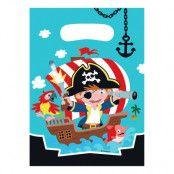 Kalaspåsar Pirat Jolly Roger - 8-pack