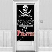 """Beware of Pirates"" dörröverdrag"