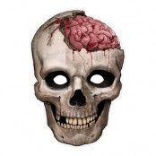 Pappersmask Döskalle med Hjärna