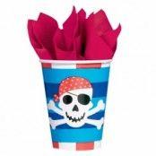 Pappersmuggar piratskatt 266ml - 8 st