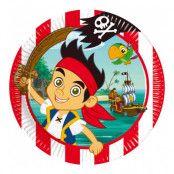 Papperstallrikar Jake och Piraterna - 8-pack