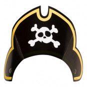 Partyhattar Pirat Jolly Roger - 8-pack