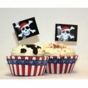 Piratfest Muffins kit - 48 delar - 24 st
