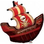 Piratskeppsformad folieballong till födelsedagen- 102 cm