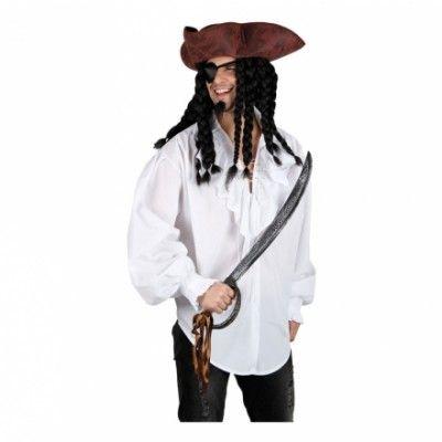 Piratskjorta Vit - Large