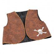 Piratväst Brun - One size