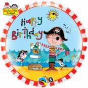 Rachel Ellen folieballong med pirat till födelsedagen - 46 cm