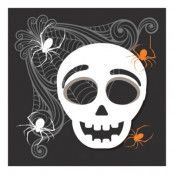 Servetter Halloween Döskalle - 20-pack