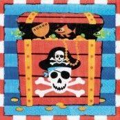 Servetter Piratskatt 2-lags - 16 st