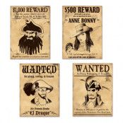Skyltar Wanted Pirattema