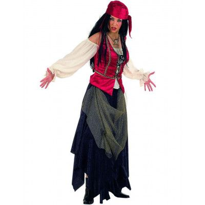 Tuff Komplett Piratdräkt till Kvinna - Lyxdräkt