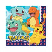 16 stk Servietter 33x33 cm - Pokémon Fest