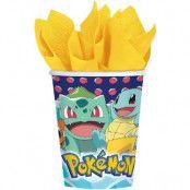 8 stk Pappmuggar 250 ml - Pokémon Fest