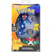 Pokemon - Ash's Greninja, Hawlucha & Pikachu