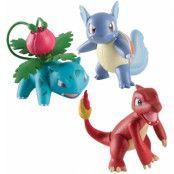 Pokemon - Charmeleon, Wartortle & Ivysaur - 6 cm