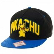 Pokemon Pikachu Black Snapback, Adjustable Snapback Cap