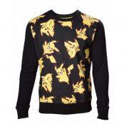 Pokémon All Over Sweatshirt Pikachu, MEDIUM