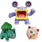 Pokémon - Battle Figure Set - Loudred, Jigglypuff & Bulbasaur