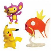 Pokémon - Battle Figure Set - Magikarp, Aipom & Pikachu