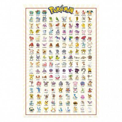 Pokémon, Maxi Poster - Kanto 151