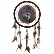 Lone Wolf - Drömfångare med Vargmotiv 33 cm