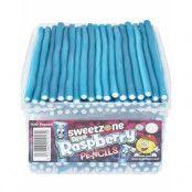 100 stk Sweetzone Blue Raspberry Pencils / Godisstänger - Halal Certifierat