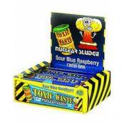 50 stk Toxic Waste Nuclear Sludge Blue Raspberry Chew Bar av 20 gram - Hel låda