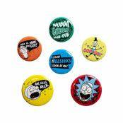 Rick and Morty, 6x Pins - Mix