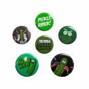Rick and Morty, 6x Pins - Pickle Rick
