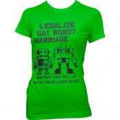 Legalize Gay Robot Marriage Girly Tee, Girly Tee