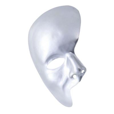 Venetiansk Halvmask Silver - One size