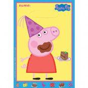 6 stk Godispåsar - Peppa Pig